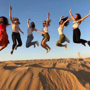 girls in dubai desert group