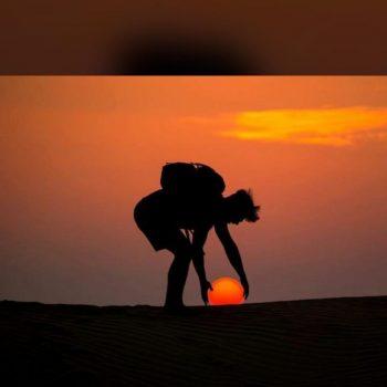 desert safari sunset view